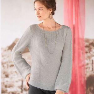 ⭐️Sundance Light Weight Grey Fine Knit Sweater